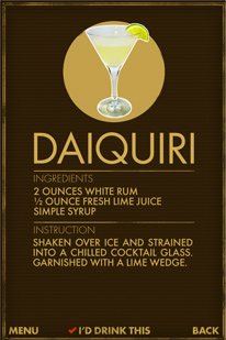 What Cocktail? - Daiquiri Ingredients